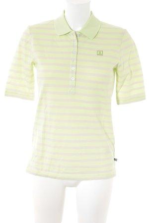 Jette Polo-Shirt blasslila-blassgrün Streifenmuster Casual-Look