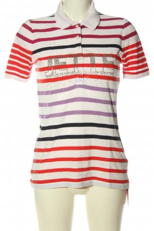 Jette Polo-Shirt Streifenmuster Casual-Look