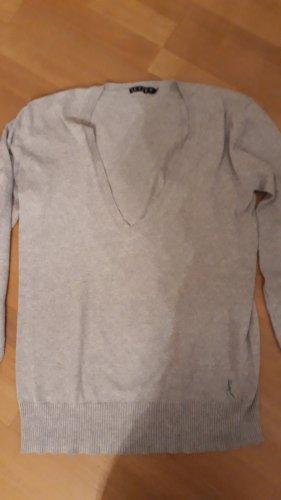 Jette Pull en cashemire gris clair coton