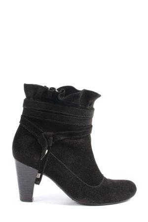 Jette Reißverschluss-Stiefeletten schwarz Casual-Look