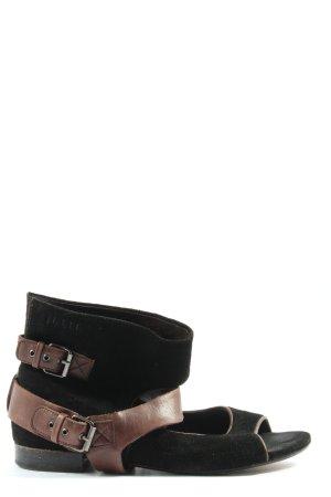 Jette Riemchen-Sandalen schwarz-braun Casual-Look