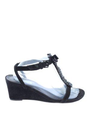 Jette Riemchen-Sandaletten schwarz Casual-Look
