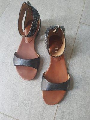 Jette Dianette sandalen zwart-zilver Leer