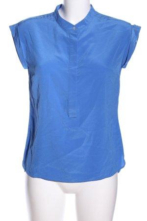Jette Blusa con collo alla coreana blu stile casual