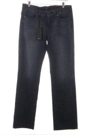 Jette Jeans met rechte pijpen donkerblauw casual uitstraling