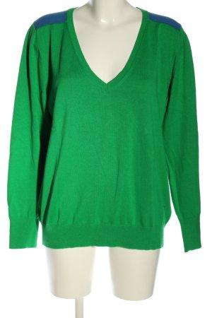 Jette Strickpullover grün-blau Casual-Look