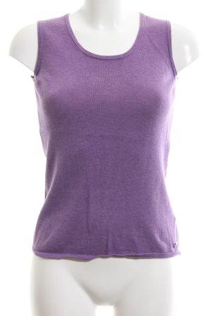 Jette Haut tricotés violet moucheté style décontracté