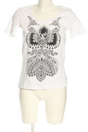 Jette T-Shirt weiß-schwarz Motivdruck Casual-Look