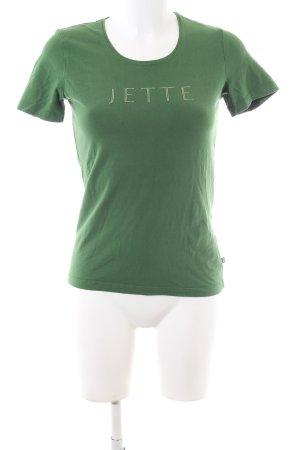 Jette T-Shirt grün Schriftzug gedruckt Casual-Look