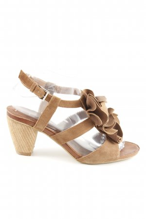 Jette T-Strap Sandals bronze-colored casual look