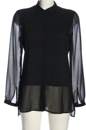 Jette Transparenz-Bluse schwarz Elegant