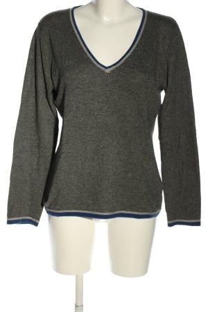 Jette V-Ausschnitt-Pullover meliert Casual-Look