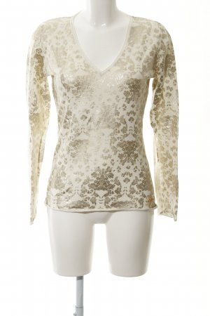 Jette V-Ausschnitt-Pullover hellbeige-goldfarben Casual-Look
