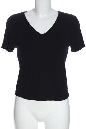 Jette V-Ausschnitt-Shirt schwarz Casual-Look