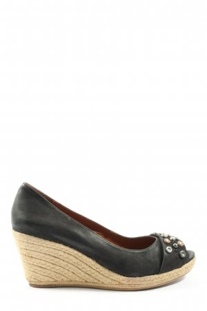 Jette Wedge Sandals black business style