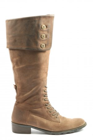 Jette Wide Calf Boots brown-bronze-colored casual look