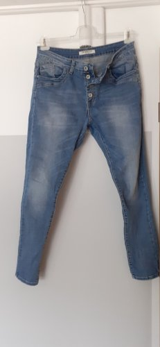 JEWELLY Jeans stretch bleu coton