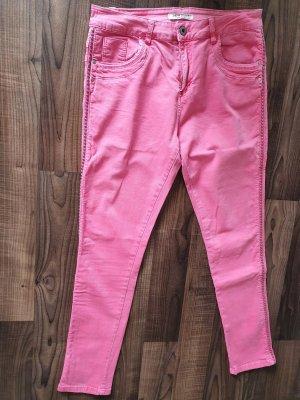 JEWELLY Pantalone a sigaretta rosa