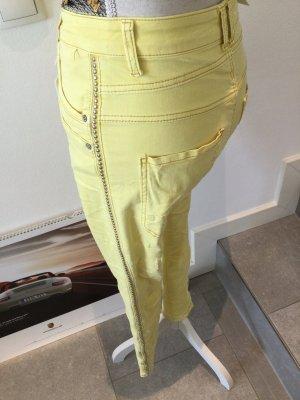 JEWELLY Luźne spodnie żółty