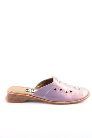 JHAY Zuecos lila-marrón moteado look vintage