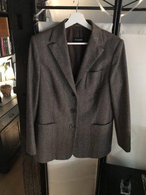 Jil Sander Blazer en laine brun noir-marron clair