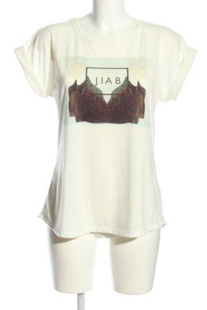 JIAB T-Shirt Motivdruck Casual-Look