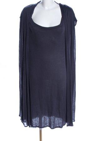 JIGSAW Kurzarmkleid blau Casual-Look