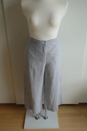 JIGSAW Pantalon en lin blanc-bleu azur
