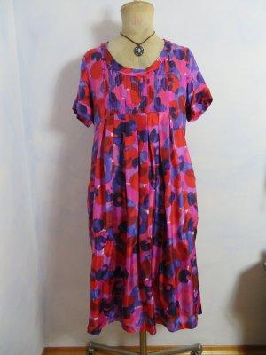 Jigsaw Multicolor Silk Dress - Größe UK 12 EU M - 100% Seidenkleid - Eggshape Kleid