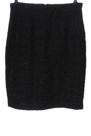 JIGSAW Jupe en tweed noir motif à carreaux style décontracté