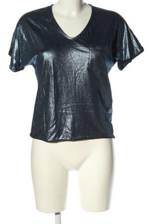 Jijil T-Shirt blau meliert Casual-Look