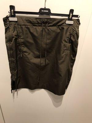 Jil Sander Ołówkowa spódnica khaki