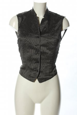 Jil Sander Waistcoat light grey striped pattern elegant