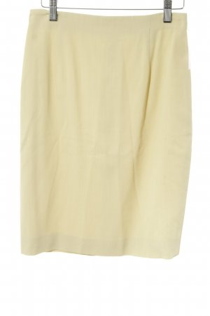 Jil Sander Bleistiftrock sandbraun Business-Look High Waist Wolle Viskose