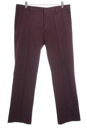 Jil Sander Bundfaltenhose braunviolett schlichter Stil