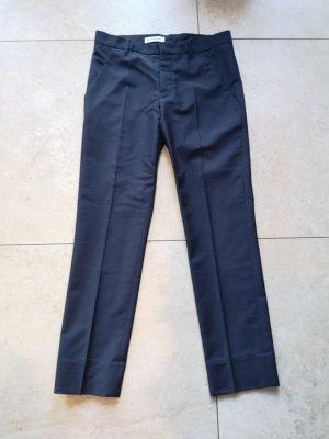Jil Sander Wełniane spodnie ciemnoniebieski