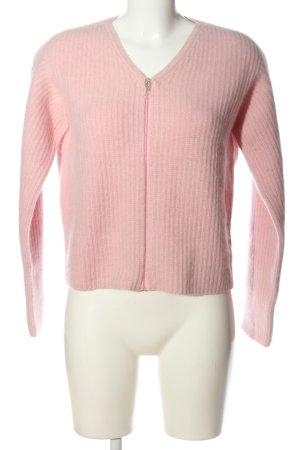 Jil Sander Cardigan pink Zopfmuster Casual-Look
