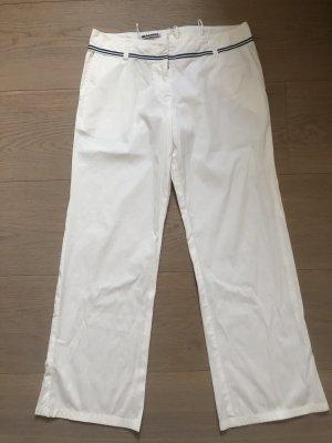 Jil Sander Pantalon en jersey blanc coton
