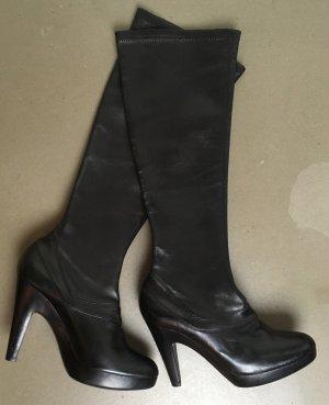 Jil Sander Ocieplane buty czarny Skóra