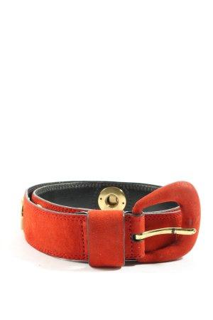 Jil Sander Hebilla del cinturón rojo look casual