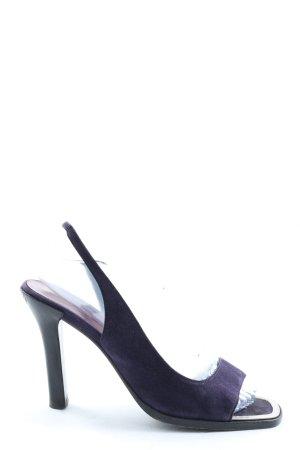 Jil Sander Sandales à talon haut violet élégant