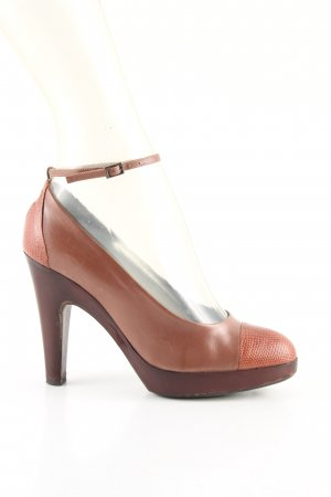 Jil Sander High Heels hellorange-braun Business-Look