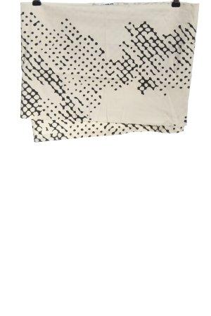 Jil Sander Spódnica mini w kolorze białej wełny-czarny Abstrakcyjny wzór
