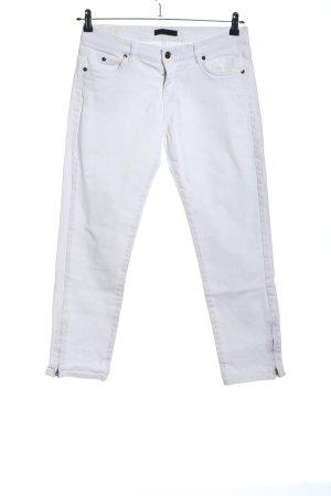 Jil Sander Jeans taille basse blanc style décontracté