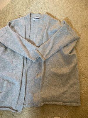 Jil Sander Gilet tricoté gris clair-gris