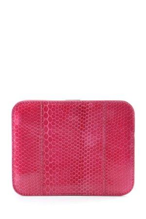 Jil Sander Porte-cartes rouge motif animal style décontracté