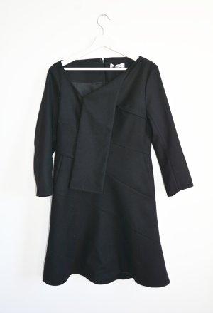 JIL SANDER Kleid UVP 1530,-€ mit Schalkragen Wollkleid NEU m. Etikett IT40