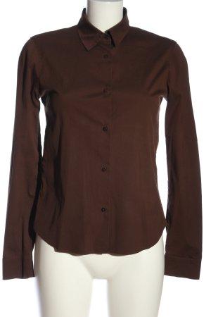 Jil Sander Chemise à manches longues brun style d'affaires