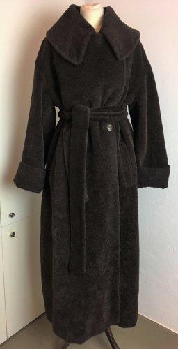 Jil Sander Cappotto in lana marrone scuro-marrone-nero Lana d'alpaca