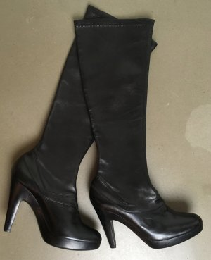 Jil Sander Slouch Boots black leather
